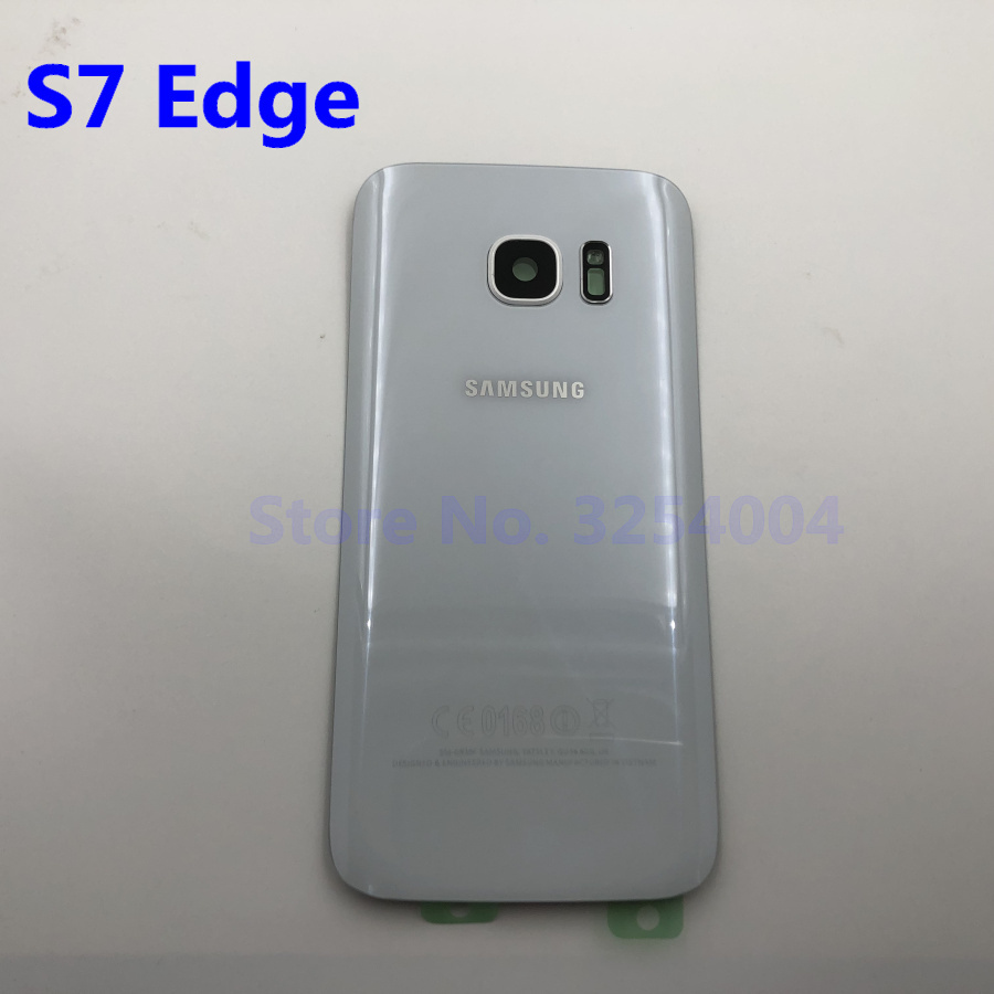 For Samsung Galaxy S7 Edge G935 S7 G930 Battery Back Cover Door Housing Replacement Repair Parts + ear Camera Glass Lens Frame
