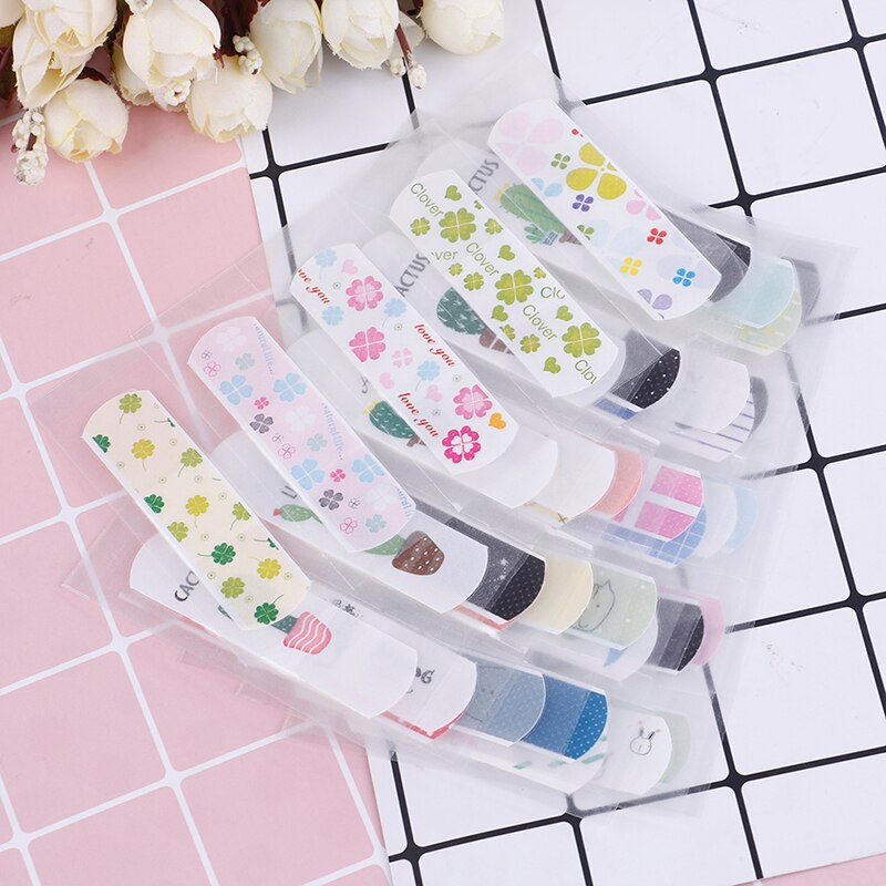 2 Sheets First Aid Emergency Skin Care Cartoon Waterproof Kids Band Aid Adhesive Bandage Wound Brace Support Plaster Kits