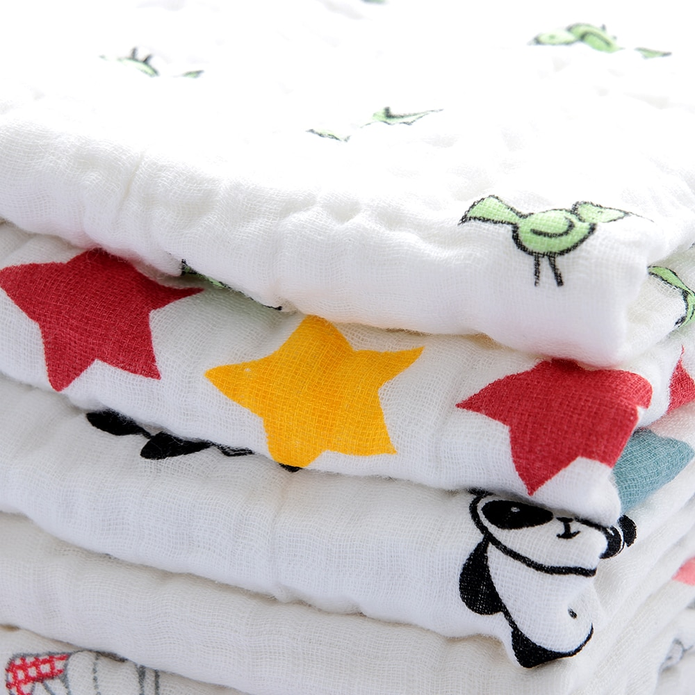 1PC Baby Bath Towels Cotton Gauze Flower Print New Born Baby Towels Soft Water Absorption Baby Care Towel Baby Care Toolss