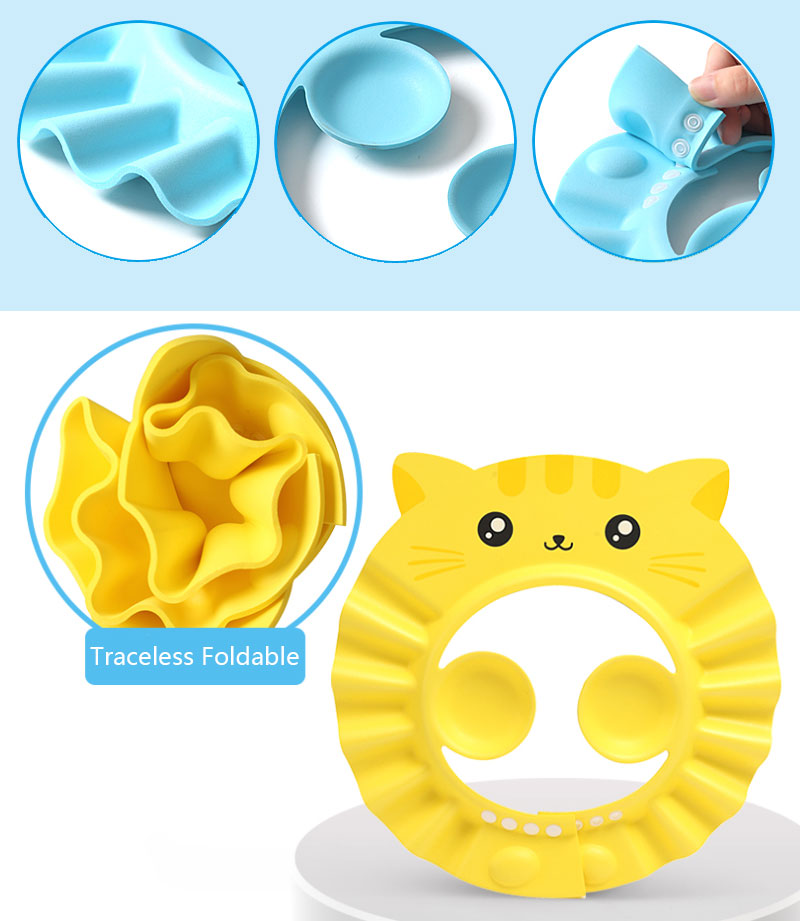 Herbabe Baby Shower Cap Adjustable Hair Wash Hat for Newborn Infant Ear Protection Children Kids Shampoo Shield Bath Head Cover