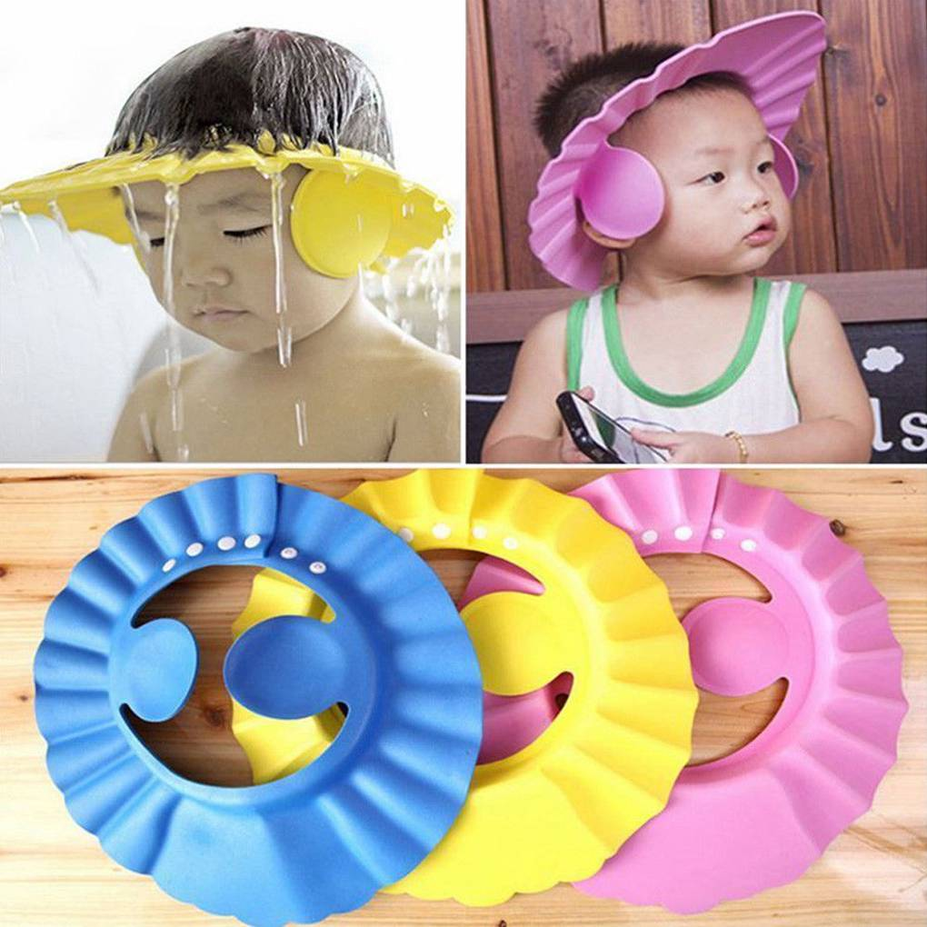 Baby Kids Cap Baby Shower Cap Baby Bath Cap Shower Hat Bath Visor Kids Bath  Bath Wash Hair Shield Hat Cap Protect Eyes Hair