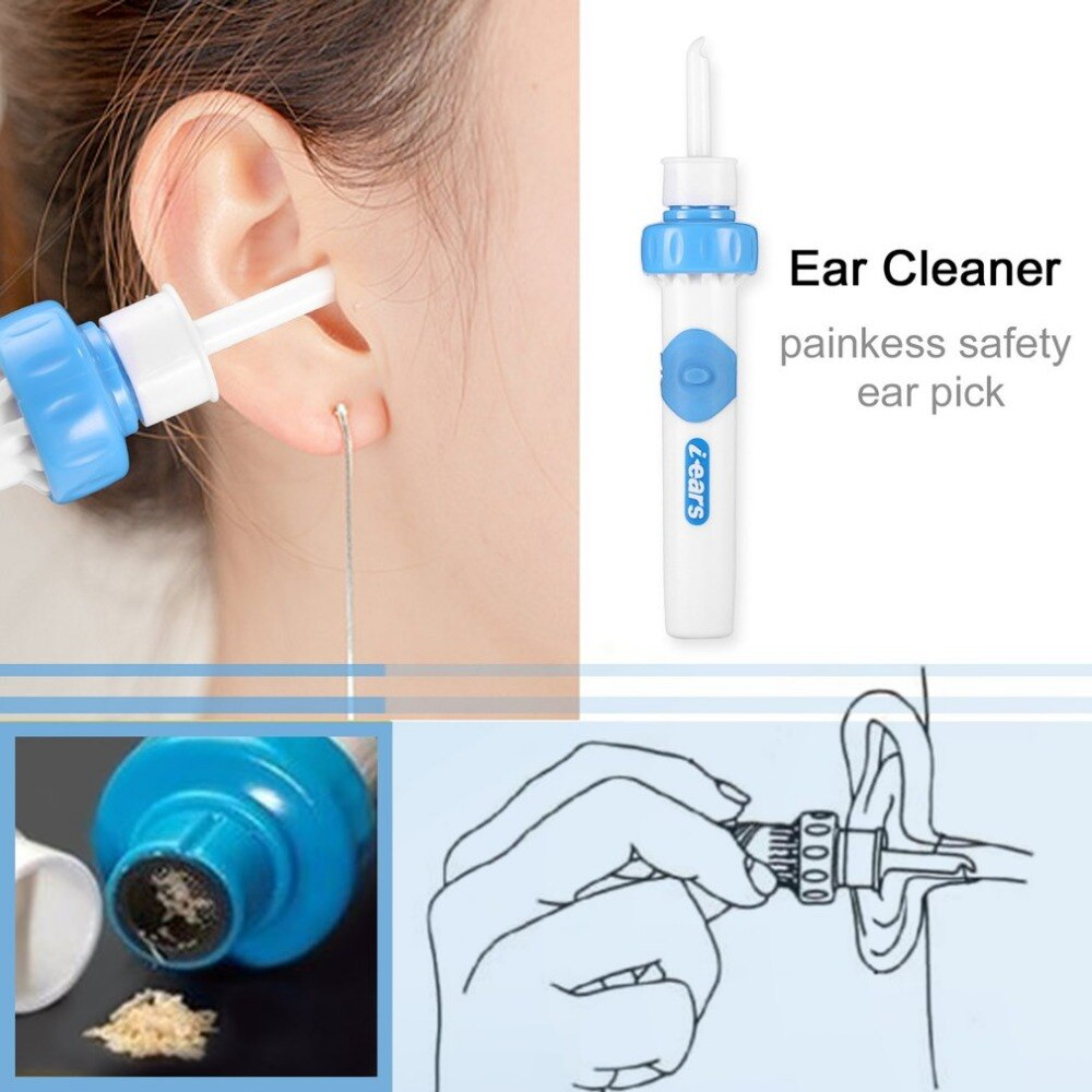 Strong Vibration Suction Health Smart Ear Care Swabs Ear Cleaner Suction Vibration Ear Cleaning Earwax Removal Tools Kit hot
