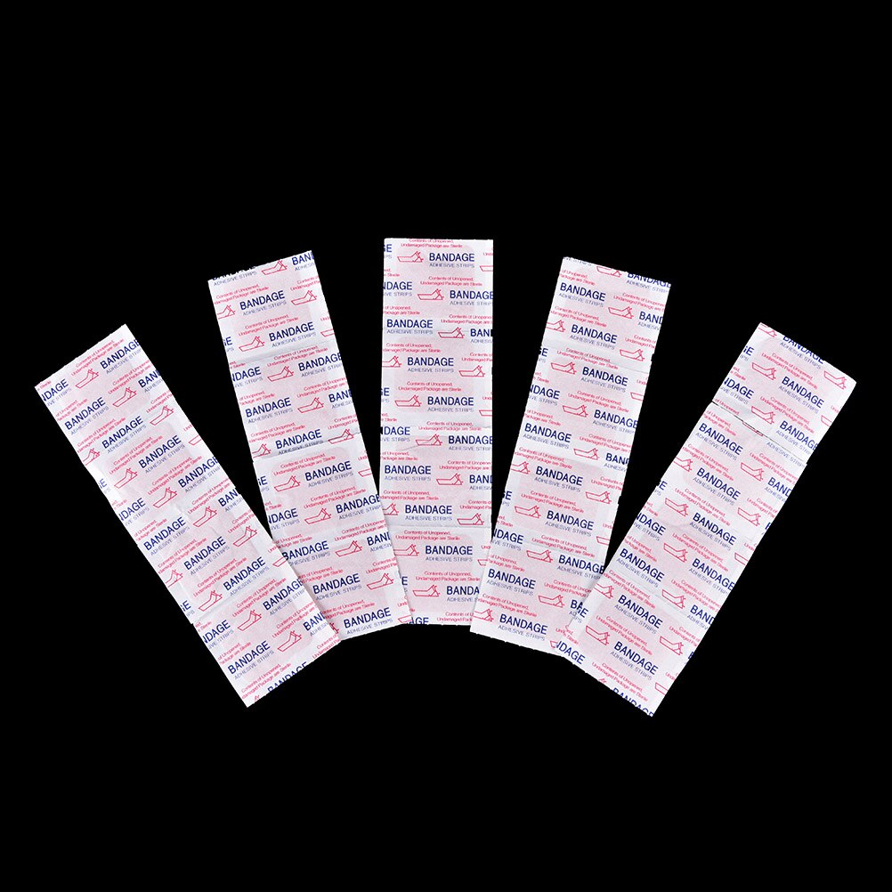 20PCs Waterproof Breathable Band Aid Hemostasis Adhesive Bandages First Aid Emergency Kit For Kids Children