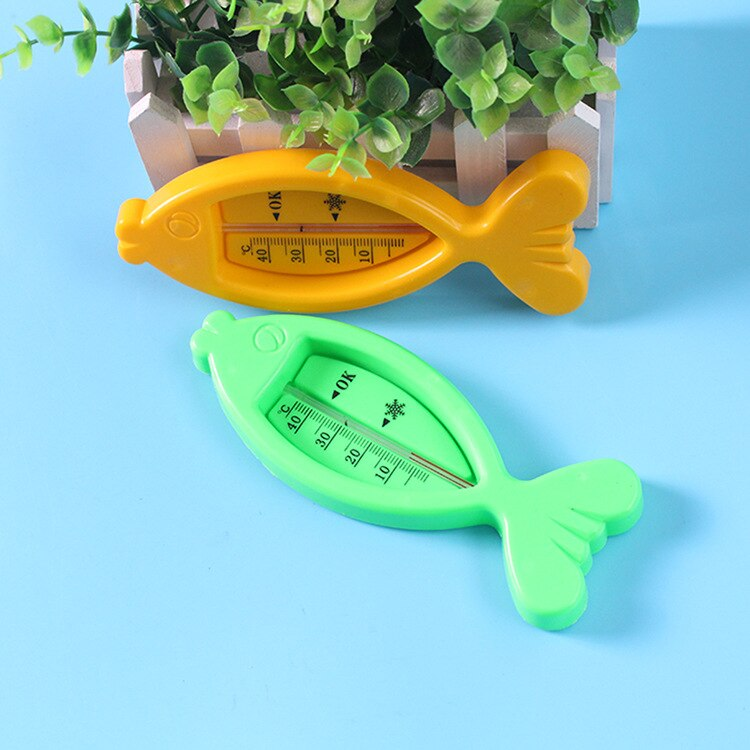 Fish-shaped Thermometer for Dry-wet  Baby Bath Infant Bathroom Toy Toddler Tub Water Sensor Indoor Thermometer Baby Care