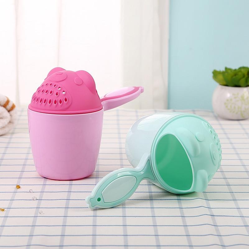 Baby Shower Caps кепка Shampoo Cup Cartoon Newborn Kid Shower Cup Baby Shower Water Spoon Bath Wash Cup Eyes Hair