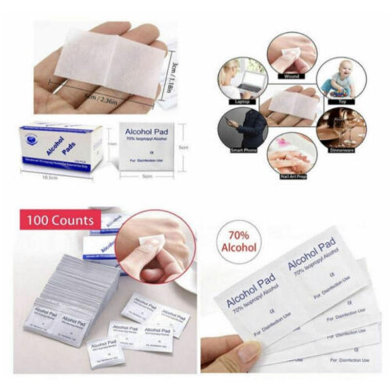In Stock 100Pcs / Bag Alcohol Wipes Disposable Disinfection Alcohol Wipes Alcohol Disinfection Piece Baby Wet Wipes