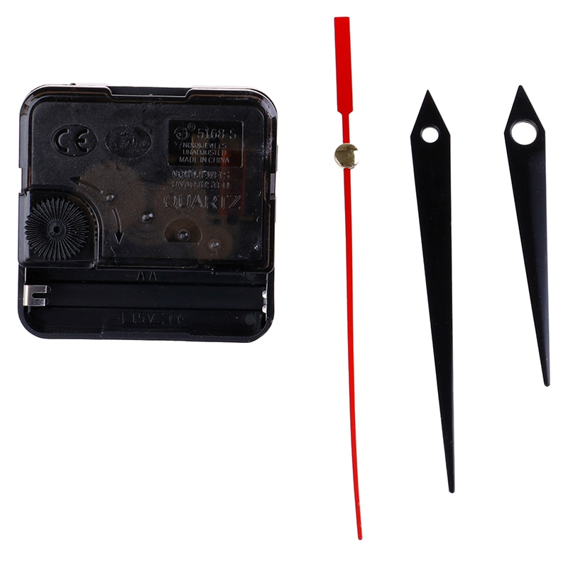 11 Styles DIY Clocks Parts Quartz Clock Movement Mechanism Repair Parts Black + Hands Replacement Parts Kit Set