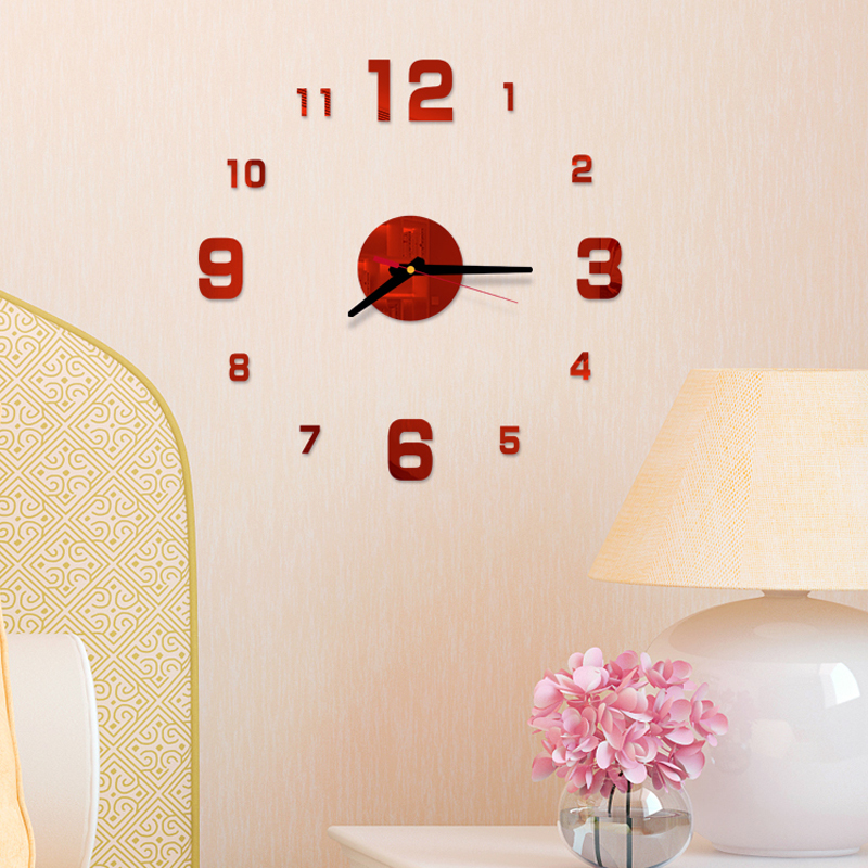 Arabic Numerals Wall Clock Modern Design Acrylic Mirror Clocks Stickers Living Room Accessories Decorative House Clock horloge