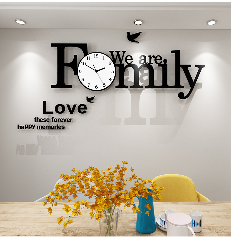 Large Wall Clock Modern Design Silent Hanging Creative Clocks DIY Wall Stickers Home Living Room Quartz Watch Free Shipping