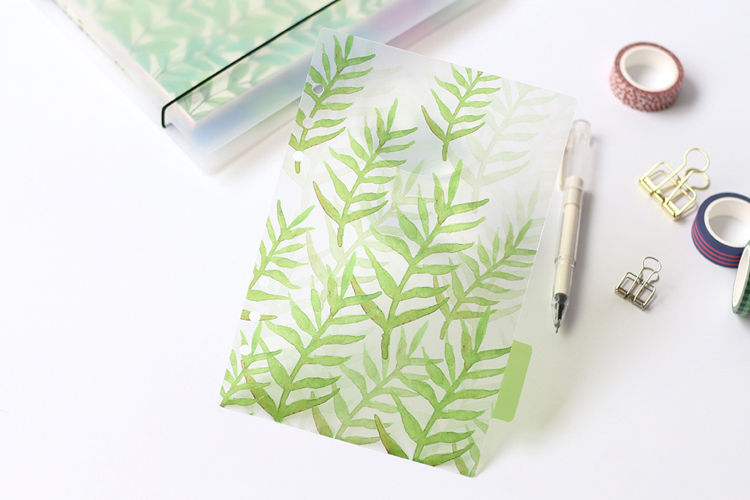 Creative A5 A6 A7 Colored Notebook Index Page Matte Cover Spiral Diary Planner Paper Note Book Category Pages Stationery