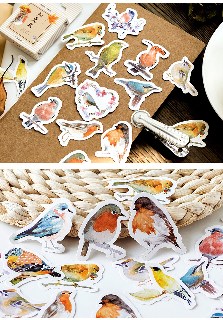 1pack Kawaii Painting Stamp Album Notebook Stickers Cartoon Lovely Fashion Theme Journal Stickers School Office Pads Stationery