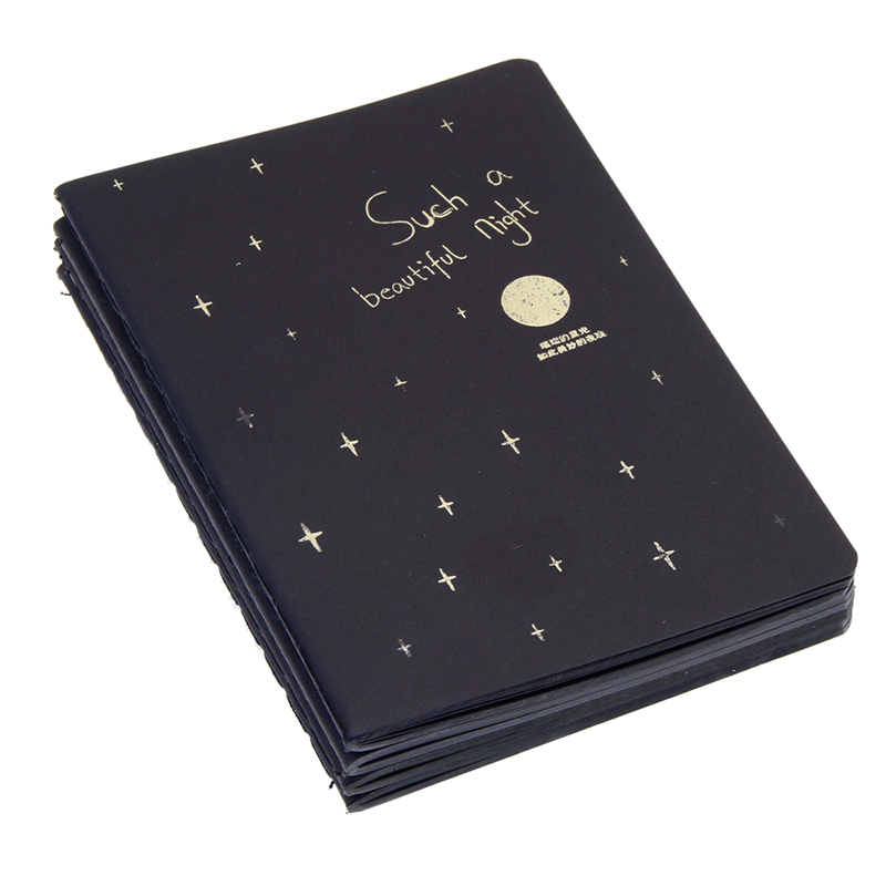 1 Notebook Diary Black Paper Notepad 56K Sketch Graffiti Notebook for Drawing Painting Office School Stationery Gifts