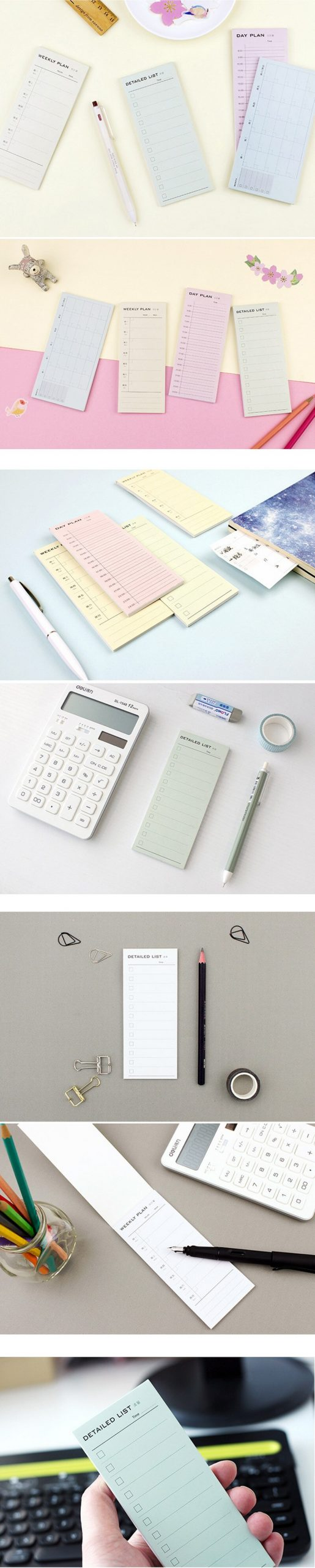 Weekly plan Inventory student notebook diary book material escolar memo notepad kawaii stationery school supplies