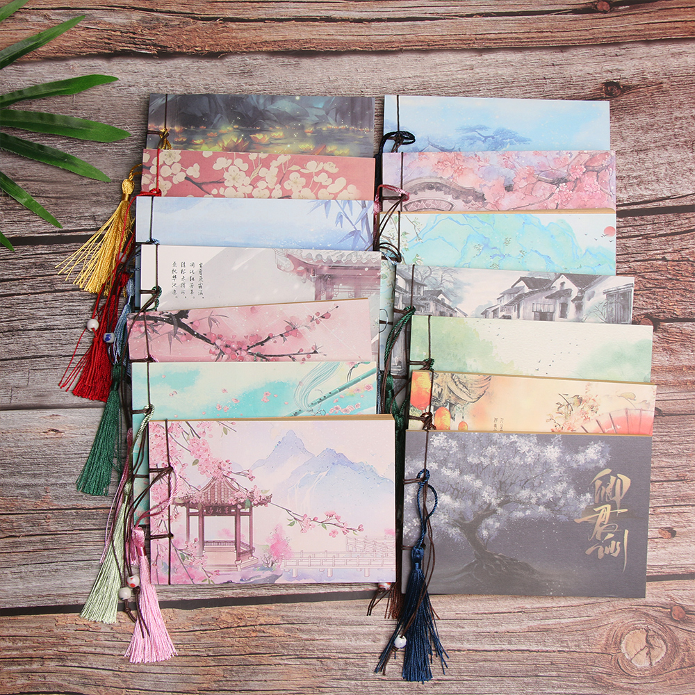 1PC Vintage Retro Chinese Style Notebook Sketchbook Journal Diary Book Notepad Weekly Planner Stationery Office School Supplies