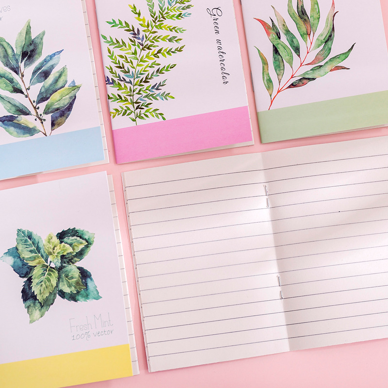 1 Pcs Portable Flamingo Fruit Notebook Cactus Notebook Cute Diary Day Planner Kawaii Journal Stationery Gift School Supplies
