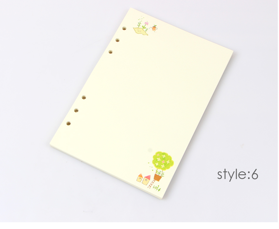 Summer Cute Series Notebook Filler Papers A5/A6  Color Inner Core Planner Inside Page gift Stationery