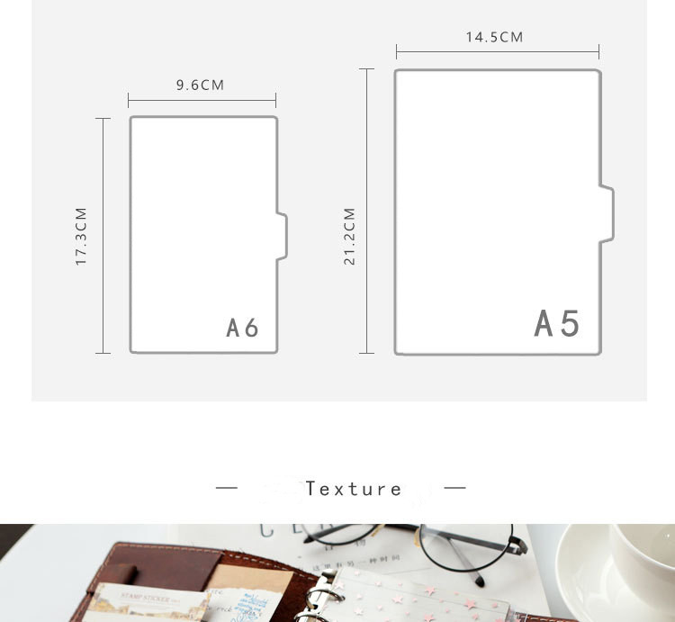 Sharkbang 5pcs PVC Kawii Beautiful Star A5 A6 Notebook Spiral Binder Index Separator Page Dividers Diary Book Stationery