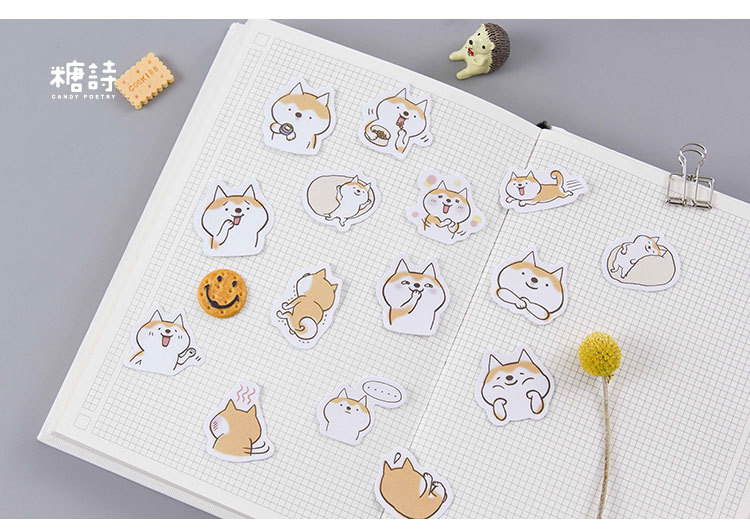 1pack Kawaii Cafe Notebook Stickers Cartoon Lovely Fashion Theme Journal Stickers School Office Pads Stationery