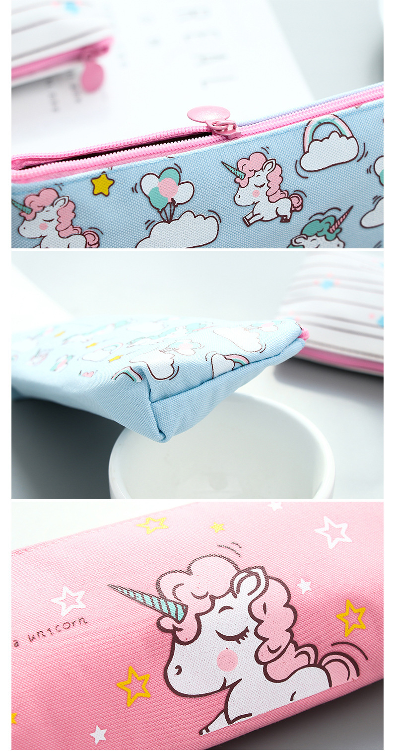 Creative Unicorn Pencil Case Large Capacity Pen Bag Cartoon Bag for Kids Gift Office School Stationery Supplies