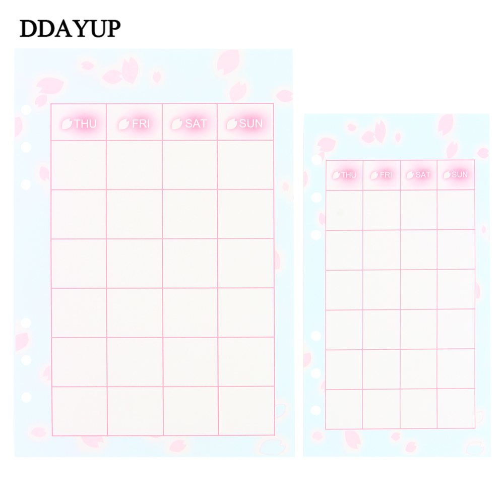 Cute Cherry blossom Series Notebook Filler Papers A5/A6 Color Diary Planner Filler Paper Stationery Gifts