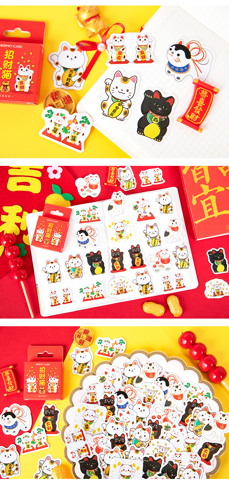 45pcs Moon Notebook Stickers Cartoon Lovely Fashion Theme Journal Stickers School Office Pads Stationery