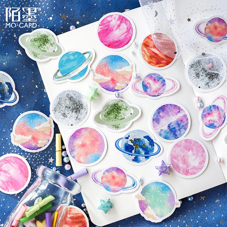 45Pcs/set kawaii Notebook style cute celebrity pattern Diary planner office decor school supplies stationery
