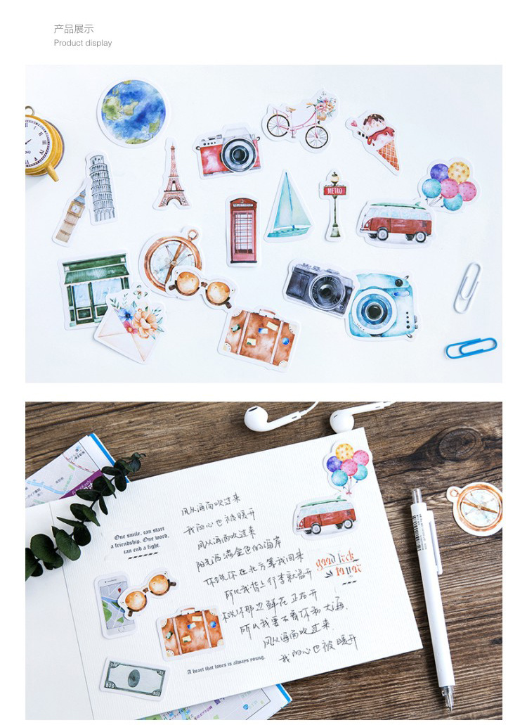 Kawaii Painting Notebook Sticker Diary Notepad Vintage Pirate Leather Note Book Replaceable Stationery Gift Traveler Journal