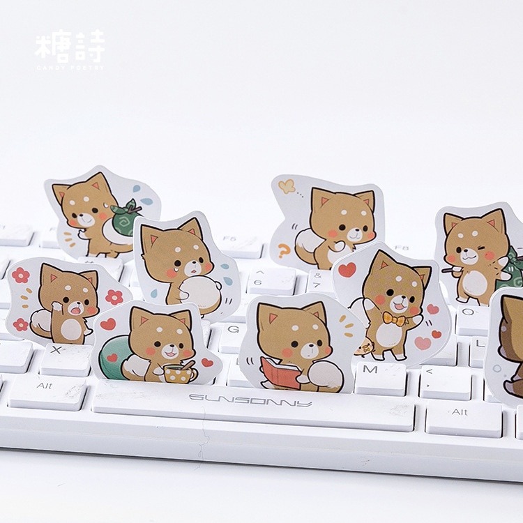 Kawaii Shiba Notebook Sticker Diary Notepad Vintage Pirate Leather Note Book Replaceable Stationery Gift Traveler Journal