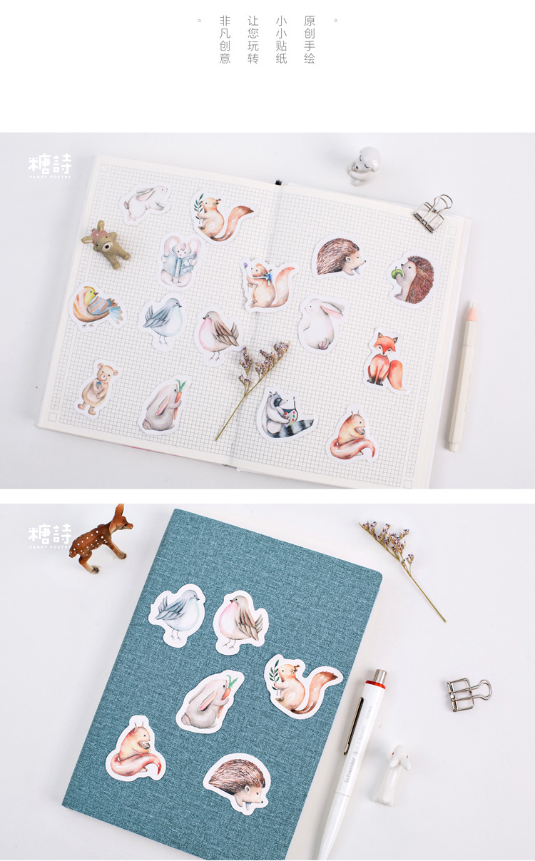 2020 New Shine Meeting Van Gogh Notebook Stickers Cartoon Cute Fashion Theme Journal Stickers School Office Pads Stationery