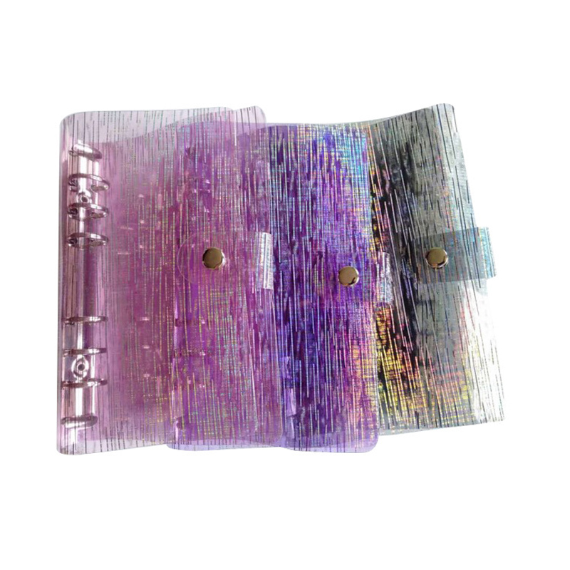 A5/A6/A7 Transparent Pvc Simple Notebook Cover File Folder  Notebook Loose Leaf Plastic Clip School Office Supplies Stationery