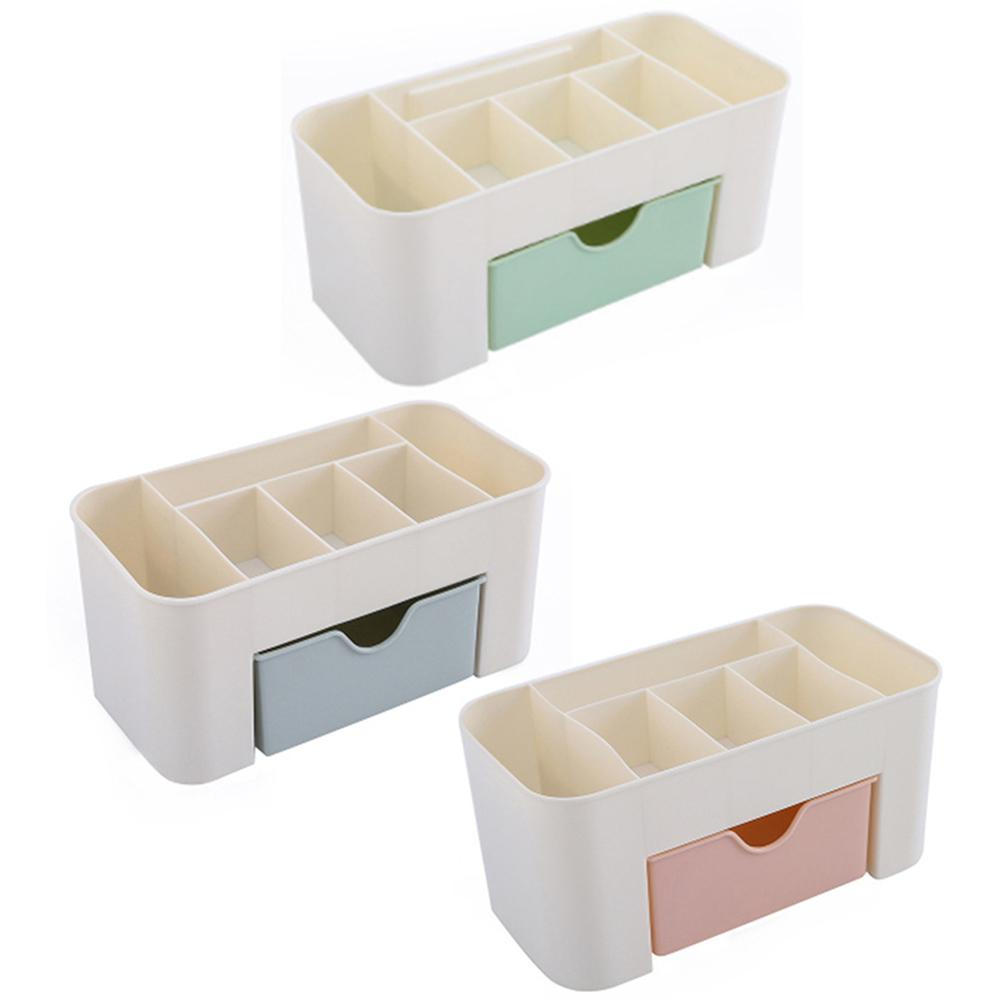 Office Desk Organizer Drawer Multi-functional Plastic 6 Grid Cosmetics Jewelry Storage Box Case Desktop Stationery Container