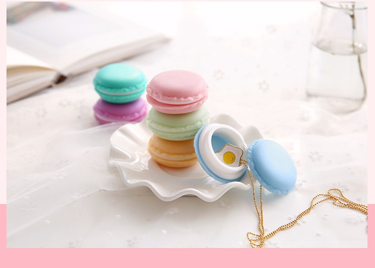 6 pcs/Lot Mini clips dispenser Macaron storage box Candy organizer for eraser zakka Gift Stationery Office school supplies 5028