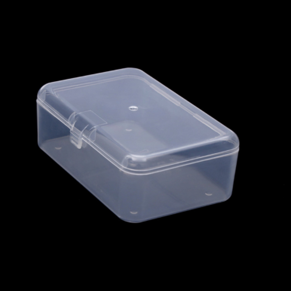 Transparent Plastic Storage Stationery Holders Box Clear Square Multipurpose Display Case Plastic Jewelry Storage Boxes