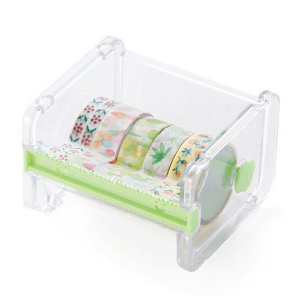 Creative Desktop Paper Tape Cutter Holder Dispenser Craft Office Stationery Box