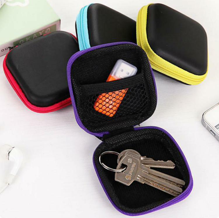 Creative Mini Storage Bag Candy Color PP Organizer Bags Storage Pouch Bag School Office Stationery  7*7*2.8cm