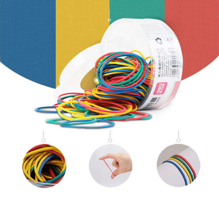 Colorful Strong Elastic Rubber Band Loop 50g School Stationery Office Pen holder Organiser