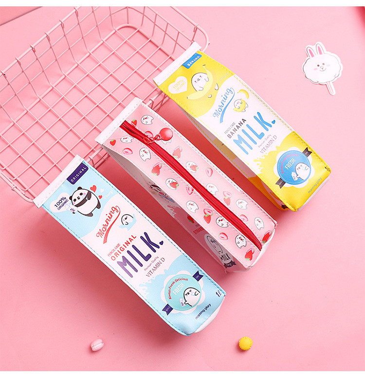 New canvas cartoon pencil case girl stationery box school stationery box canvas pen bag student supplies student gift