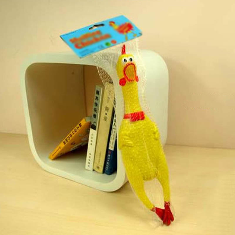 Cute Dog Toys 17cm 31cm 41cm Plastic Shrilling Chicken Squeeze Sound Toy Pet Products Funny Gadgets Decompression Tools