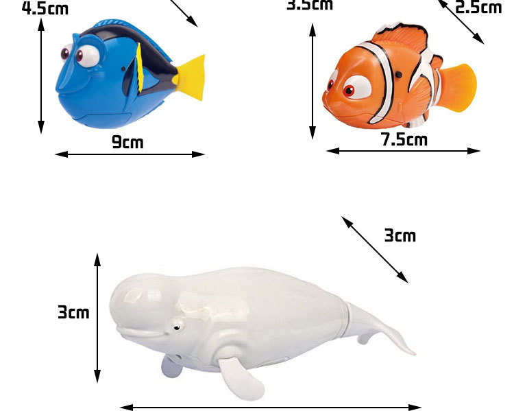 Bath Toys Attractive Swimming Fish Activated In Water Magical Electronic Fun Funny Gadgets Interesting  Gift for Kids