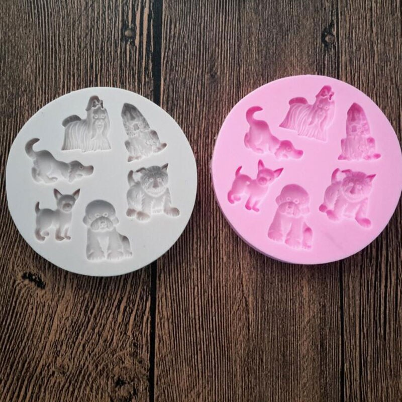 Dog Shape Silicone Mold Fondant Mould Cake Decorating Tools Chocolate Gumpaste Molds, Sugarcraft, Kitchen Gadgets