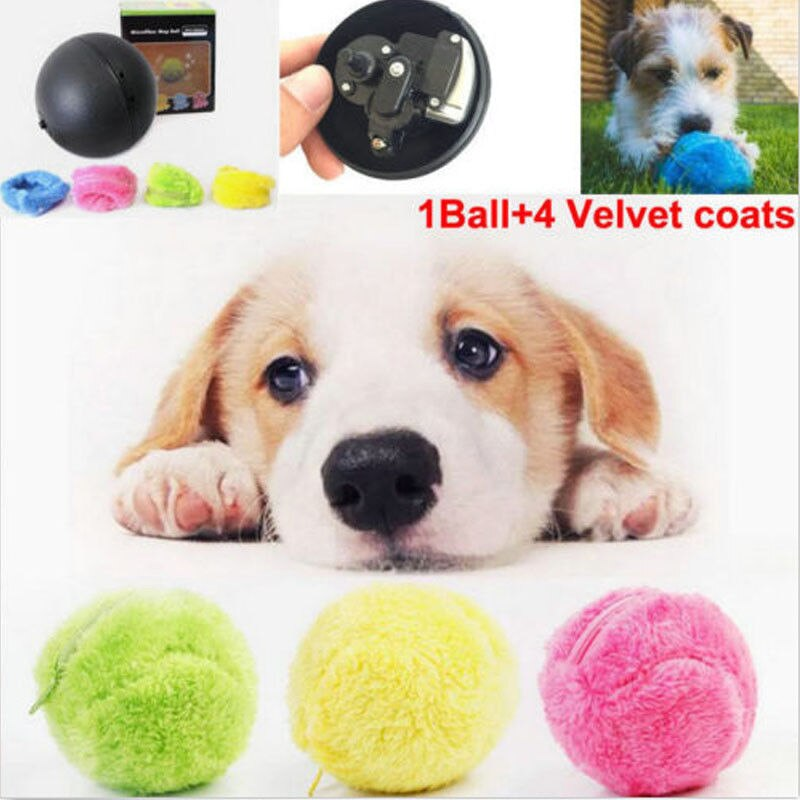 Dog Cat Activation Automatic Ball Chew Plush Floor Clean Toy Electric Pet Gadget  Pet Products Interactive Toys For Dog Cat