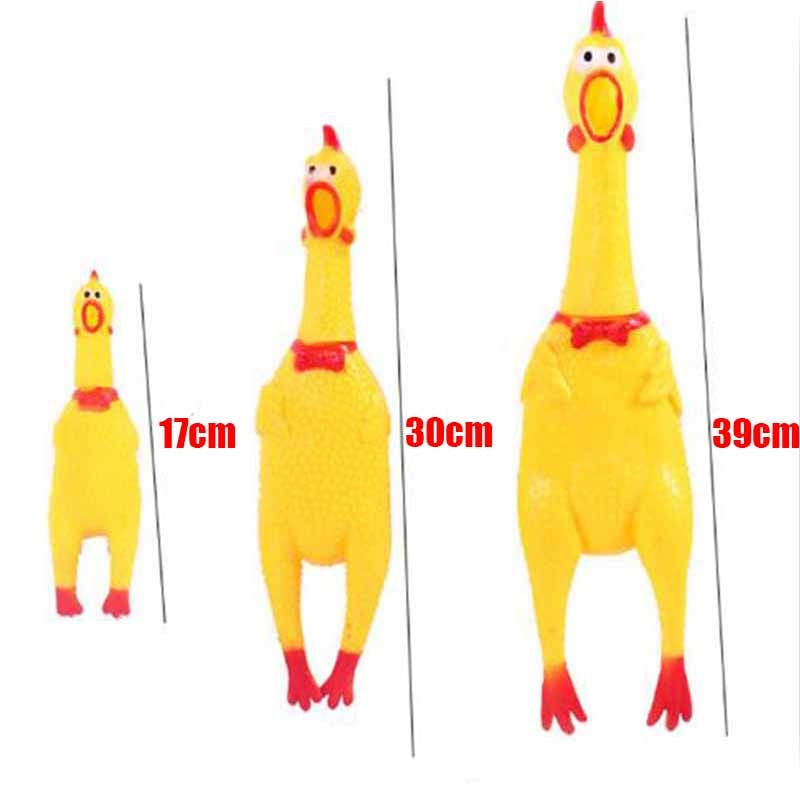 17cm/30cm/39cm Screaming Chicken Shrilling Sound Squeeze Toy Pets Pet Dog Toys Product Decompression Tool Funny gadgets baby toy