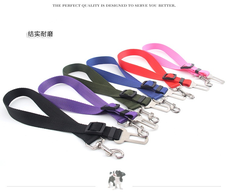 Vehicle Car Pet Dog Seat Belt Puppy Car Seatbelt Harness Lead Clip Pet Dog Collars Supplies Safety Lever Auto Traction Gadgets