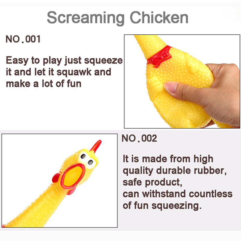 31cm 17cm Screaming Chicken Squeeze Sound Toy Pets Toy Product Dog Toys Shrilling Decompression Tool Funny Gadgets