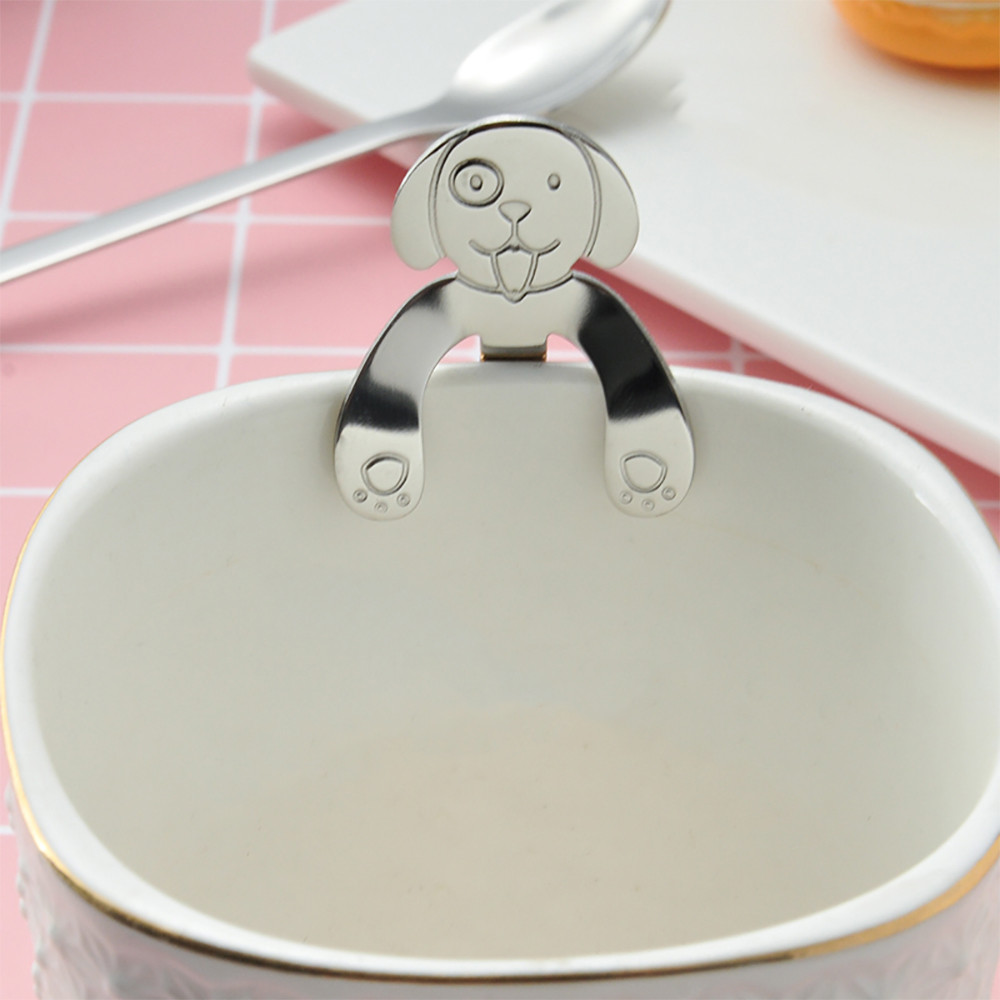 Cute Dog Spoon Long Handle Spoons Flatware Coffee Drinking Tools Kitchen Gadget Handle Spoons Flatware Coffee Drinking Tools#T2