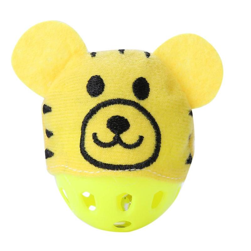 Funny Plastic Hollow Dogs Cats Toys Bear Shape Sound Bell Toys for Kitten Puppy Necessary Outdoor Pet Decompression Gadgets