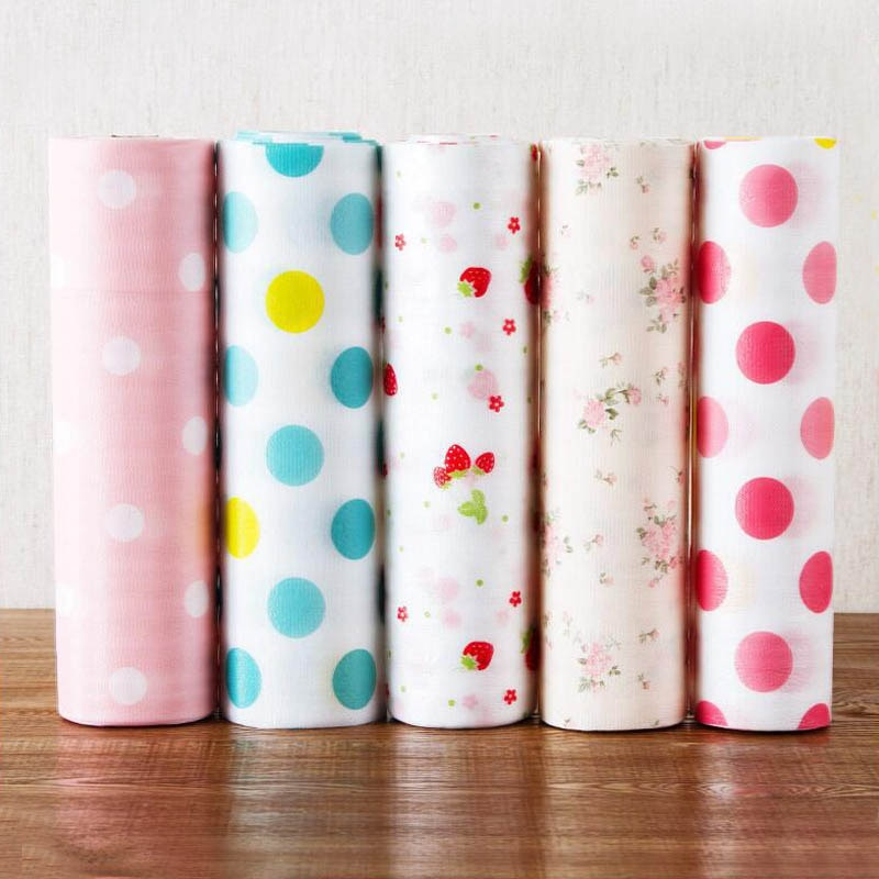 1 Roll  Kitchen Table Drawer Shelf Liner Contact Paper Waterproof Mat Pad PET Anti-oil mat able Desk Decoration Kitchen Gadgets