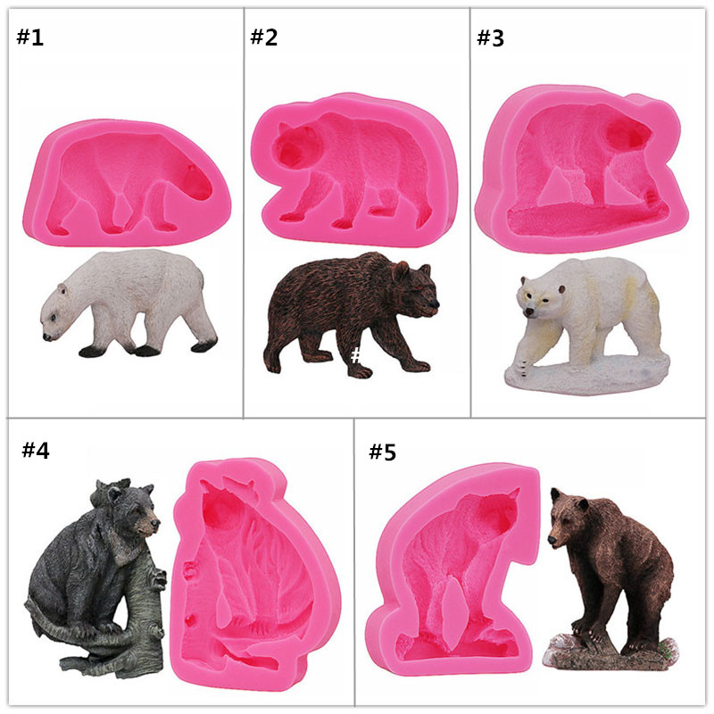 Gadgets,Dog bear mould,Silicone Rubber Flexible Food Safe Mold  Bear silicone moldclay fondant candy chocolate cupcake Bear Mold