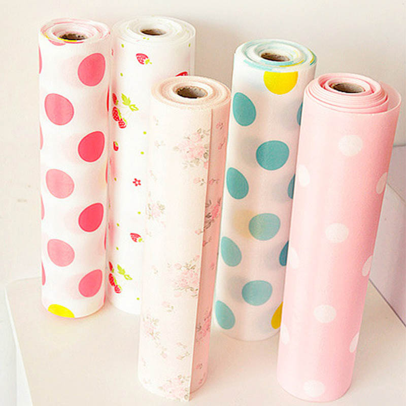 1 Roll Table Drawer Mat Kitchen Gadgets Shelf Liner Contact Paper Waterproof Drawer Paper PET Anti-oil Table Desk Decoration