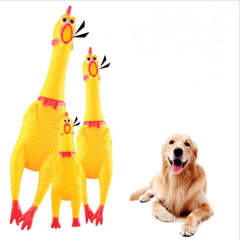 16cm 30cm 38cm Screaming Chicken Squeeze Sound Toy Pets Toy Product Dog Toys Shrilling Decompression Tool Funny Gadgets